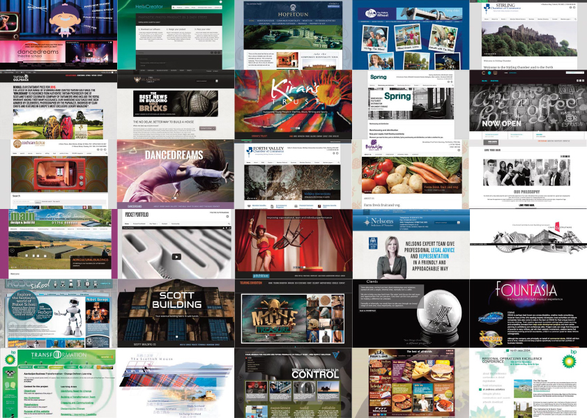 Design examples form a top website designer
