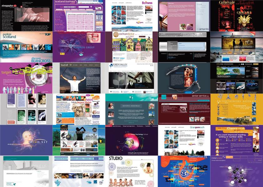 Design examples for IDEAS website design Scotland