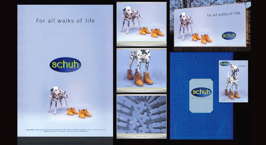 example of schuh brand development marketing collateral by Ideas